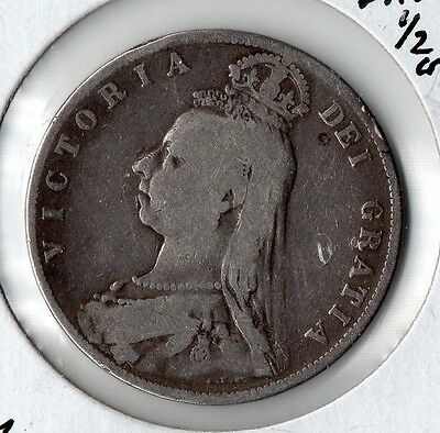 1889 Great Britain Half Crown