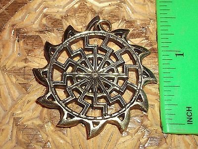 Ancient Scythian-Slavs Bronze Symbol of the Black Sun /Replica-Amulet #1