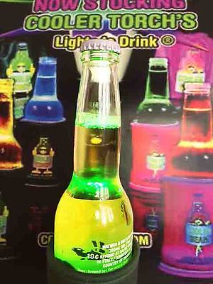 New DUAL PACK - Cooler Beam Stubby Cooler Torch x2 (Black and Green)