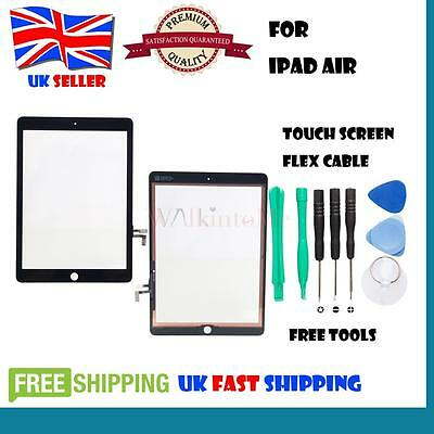 Front Digitizer Touch Screen Glass Replacement for iPad Air 1st Gen Black Tools