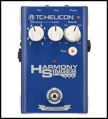 TC Helicon Harmony Singer Voice Guitar/Vocal processor effects Pedal