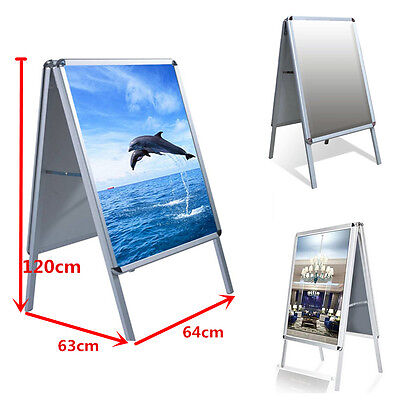 A1 Aluminium A-Board Pavement Sign Poster Snap Frame Display Stand Advertise Uk