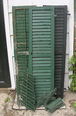 Lot 4 antique window shutters for parts/restoration/repurpose projects 56 x 14