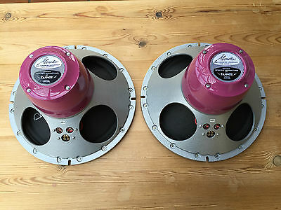 """Lovely pair NEW build TANNOY 12"""" Reds Red speakers NOS & new parts LSU/HF/12.L"""