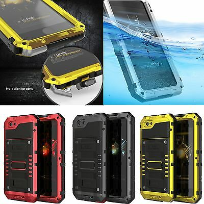 Waterproof Heavy Duty Armor Tempered Glass Metal Case Cover For iPhone 7 7 Plus