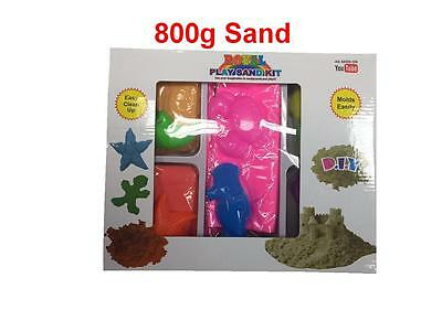 Magic Motion Moving Sand 800g Play BOX with Moulds &Tray Children Toy Never Dry