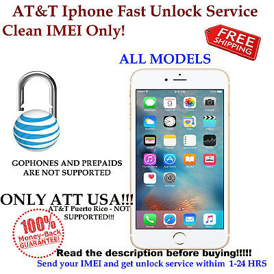 FAST FACTORY UNLOCK CODE FOR AT&T USA IPHONE 4S 5 5S 6 6s+ 7 11 CLEAN IMEI ONLY