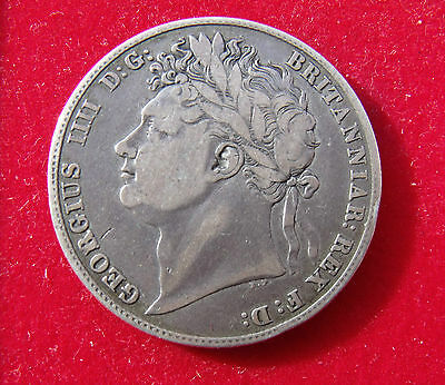 1821 Half crown Coin King George IIII .925 silver. British Coins