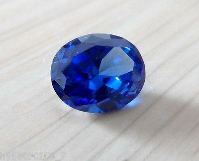 8.02CT 12X14mm AAA Swiss Blue Sapphire Faceted Cut Oval Shape VVS Loose Gemstone