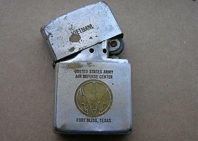 Original 1966 Vietnam War Zippo Lighter Air Defense Center 1st Air Cav. Div.