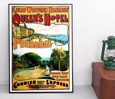 Penzance, Cornwall Poster - Great Western Trains Vintage Travel Poster