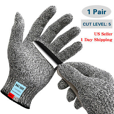 NEW Stainless Steel Wire Cut Proof Anti-Cutting Safety Protective Butcher Gloves
