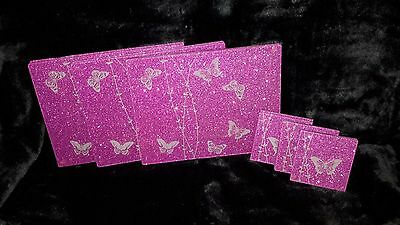 Set of 6 glitter placemats and coasters Hot pink sparkle
