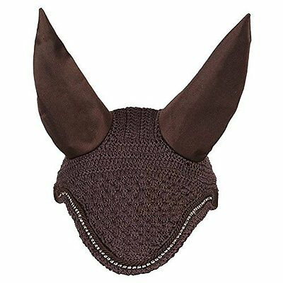 LeMieux Diamante Fly Hoods - Brown/Brown - X Large - Horse Hoods & Neck Covers