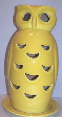 """Stangl LARGE RARE Yellow Owl candle holder 12"""" x 4.5"""" wide"""