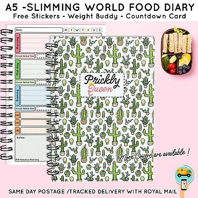 Diet Food Diary Slimming World Compatible Planner Tracker Log Weight Loss, PinkB