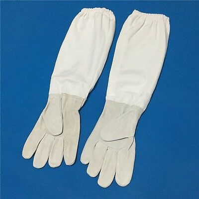 Beekeeping Gloves Sheepskin + breathable material Bee Tools Universal Model Canv