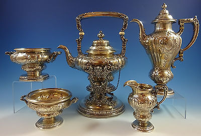 King George by Gorham Sterling Silver Tea Set 5pc (#1293) Fabulous!