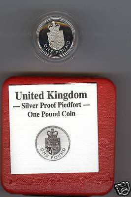 1988 Boxed Piedfort Proof £1 Shield