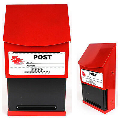 Sens Wall Mail Post Box Letter Red