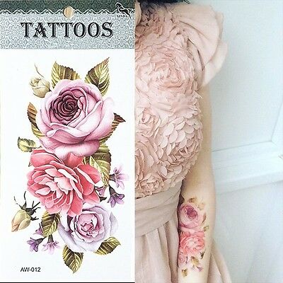 3D tattoos one-time temporary tattoos Arm flower tattoo waterproof female body a