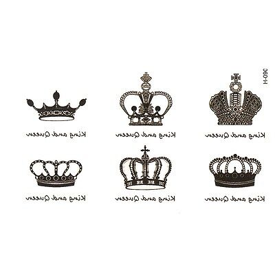 crown Temporary Tattoo simulation alphabetical waterproof men and women tattoo s