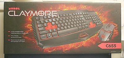 Modal Claymore C655 Optical Gaming Keyboard & Mouse Combo - Md-Pnc6555-C