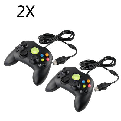 2X For Original Microsoft XBOX System Wired Controller Control Pad US Warehouse