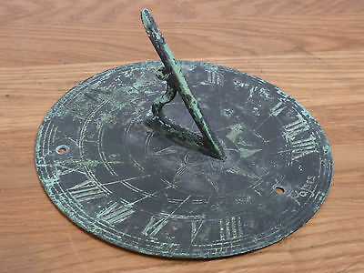 Vintage brass sundial dated 1658 by Person page circa 1920 wonderful patination