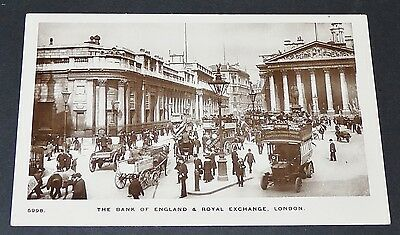 Cpa Great Britain Bank Of England & Royal Exchange By 1900 London