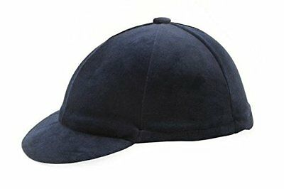 Hy Velvet Hat Cover - Navy - Horse Equestrian Riding Hat Covers