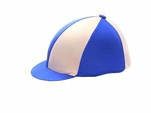 Hy Two Tone Lycra Silks - Pink/Blue - Horse Equestrian Riding Hat Covers