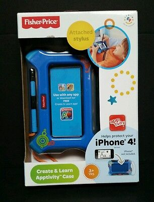 Fisher-Price Create and Learn Apptivity Case for iPhone 4 Blue NEW