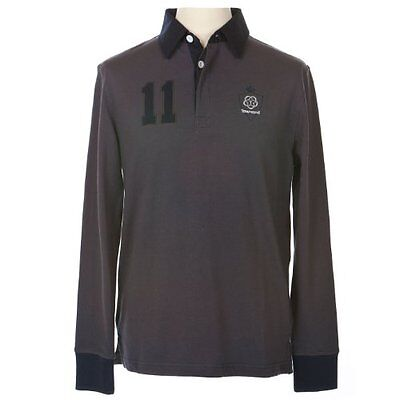 Townend Belmont Rugby Top - Charcoal/Navy - Medium - Horse Equestrian Shirts