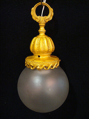 Antique French Solid Bronze Chandelier Lantern