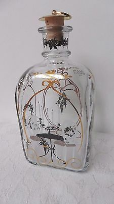 Holmegaard Golden Christmas glass decanter with stopper from 2006