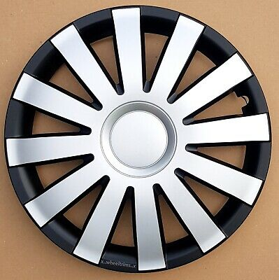 """Black/Silver 14"""" wheel trims to fit  Vw POLO,LUPO,GOLF (SET OF 4)"""