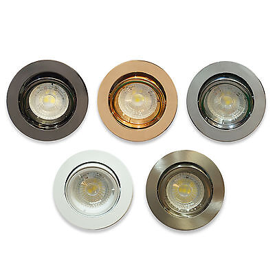 10 x GU10 Ceiling Tilt Directional Recessed Spotlight Downlights Trims Spot LED