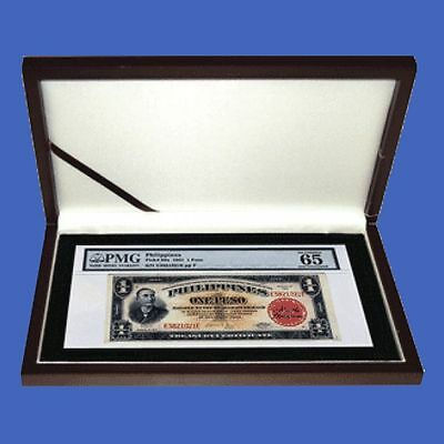 Mahogany Matte Certified Banknote Currency Box PMG PCGS Guardhouse