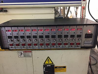 PPE Hot Runner Temperature Controller 12 Zone PPE W/12 Cards 15 Amp.  240/60/3