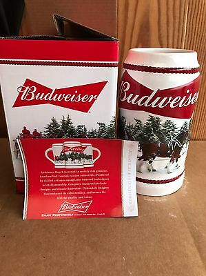 2016 Budweiser Bud Holiday Stein Christmas Beer Mug NEW from the Annual Series