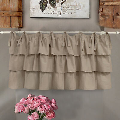 Mantovana  Shabby Chic con balze Etoile Basic Collection 130 x 60  cm Colore Tor