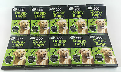 Doggy Bags Scented Dog Poo Poop Waste Tie Handles 26-29cm Medium Pooper Scooper