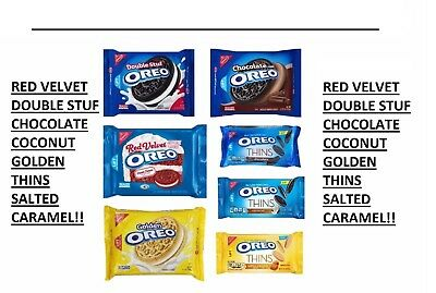 New Nabisco Oreo  Sandwich Cookies Choose Your Flavor FREE WORLDWIDE SHIP SAVING