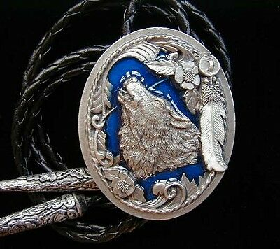 Wolf Bolo Tie  Fine Pewter New!