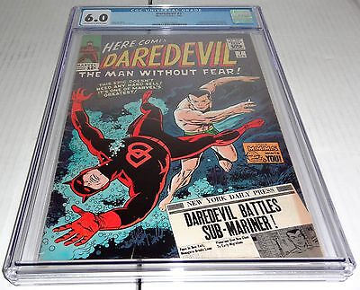 Daredevil #7 CGC 6.0 Universal Battles Sub-Mariner Dons New Red Costume Pin-Up