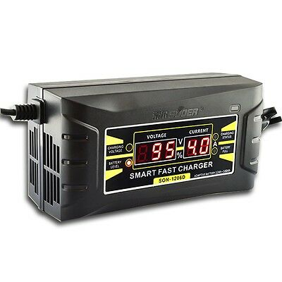 Souer Genuine 12V 6A/10A Smart Car Motorcycle Battery Charger LCD Display EU/US