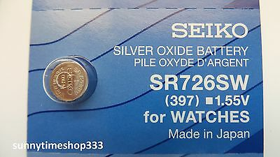 SR726SW/397, Seiko Watch Battery , Made in Japan, Silver Oxide, 1.55V