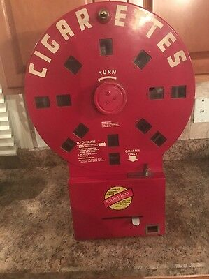 Vintage Coin Operated Dial A Smoke Cigarette Machine Rare!!
