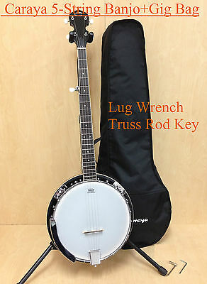 Brand New Caraya BJ-005 5-String Mahogany Resonator Banjo w/Free Gig Bag